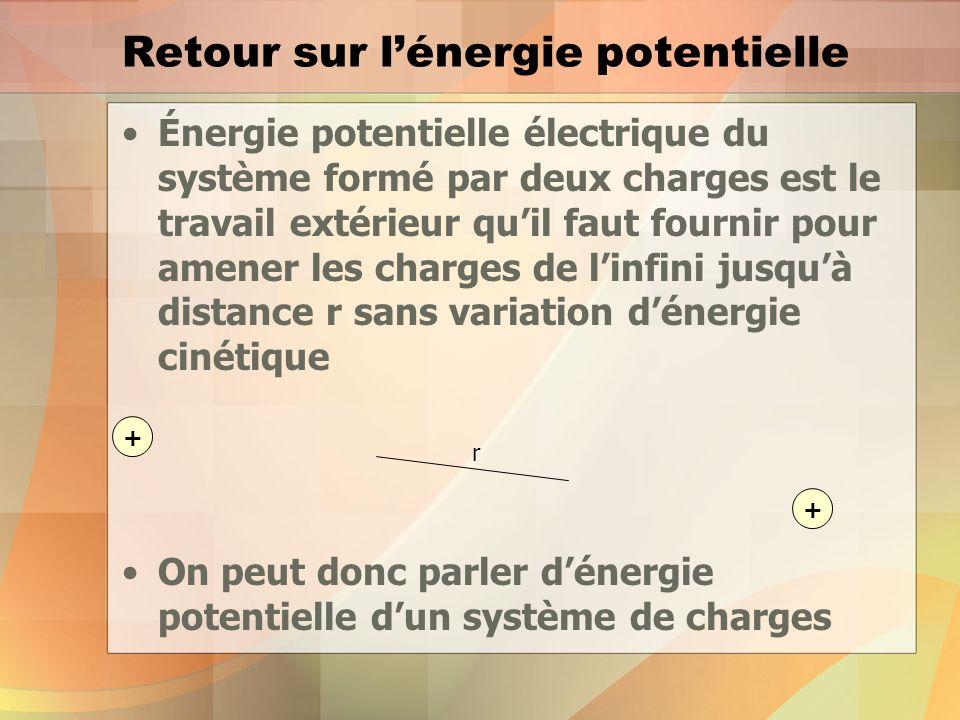 Retour sur l'énergie potentielle