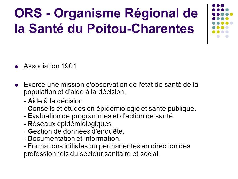 ORS - Organisme Régional de la Santé du Poitou-Charentes