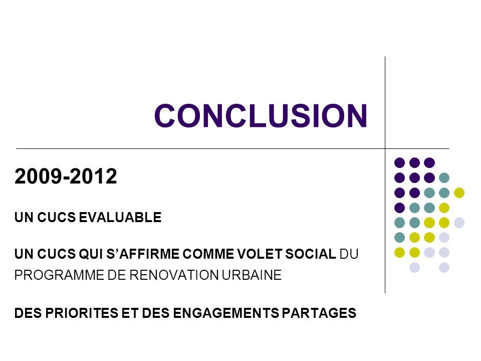 CONCLUSION 2009-2012 UN CUCS EVALUABLE
