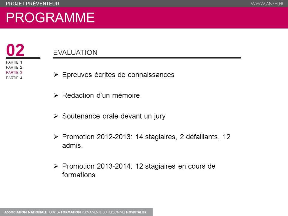 02 Programme Evaluation Epreuves écrites de connaissances