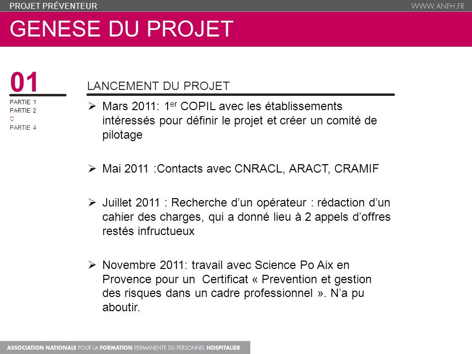 01 genese du projet lancement du projet