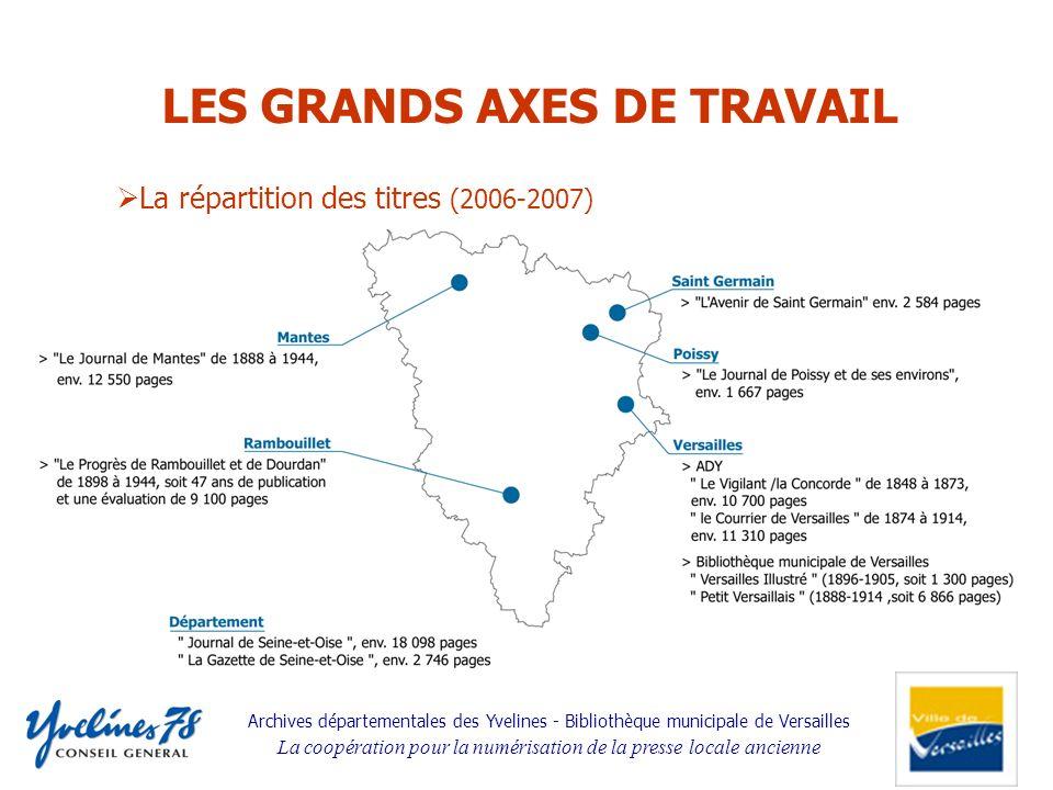 LES GRANDS AXES DE TRAVAIL