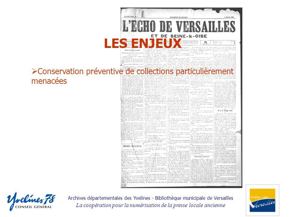 Conservation préventive de collections particulièrement menacées