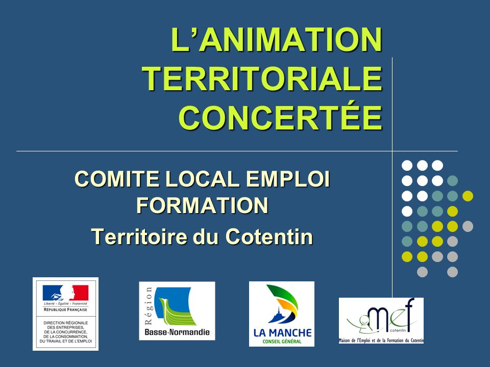 L'ANIMATION TERRITORIALE CONCERTÉE