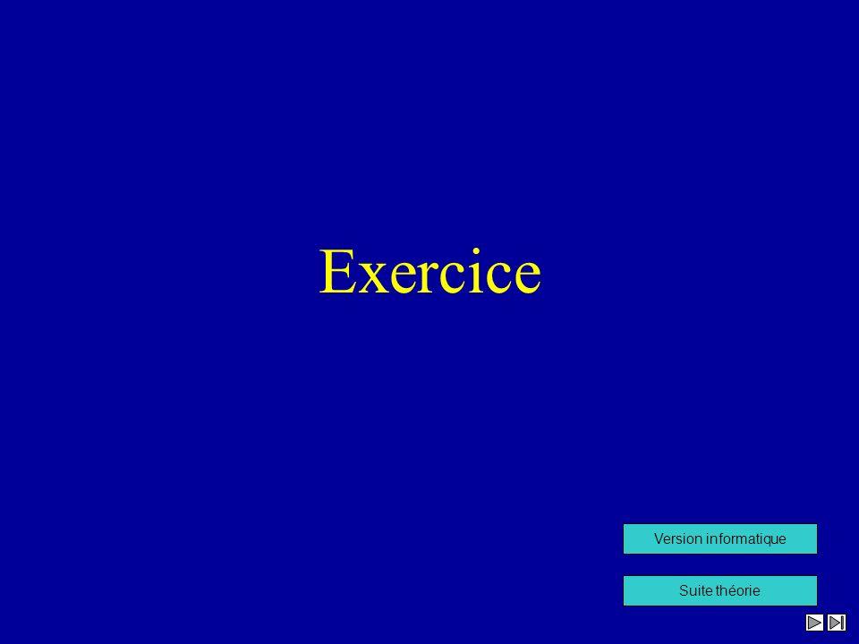Exercice Version informatique Suite théorie