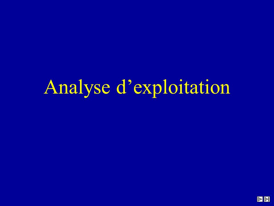 Analyse d'exploitation