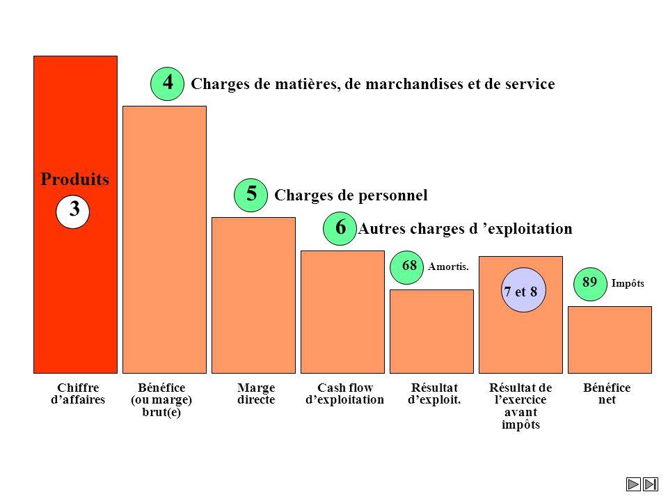 4 Charges de matières, de marchandises et de service