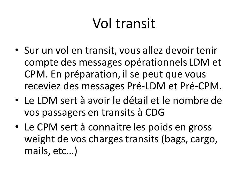 Vol transit