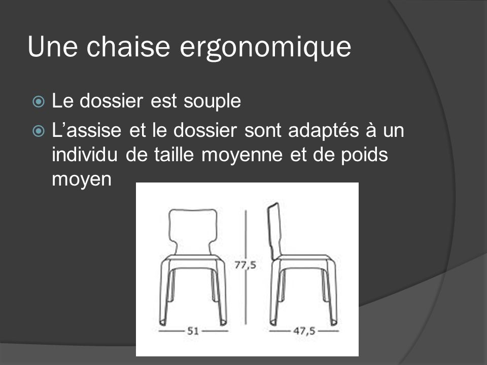 Une chaise ergonomique