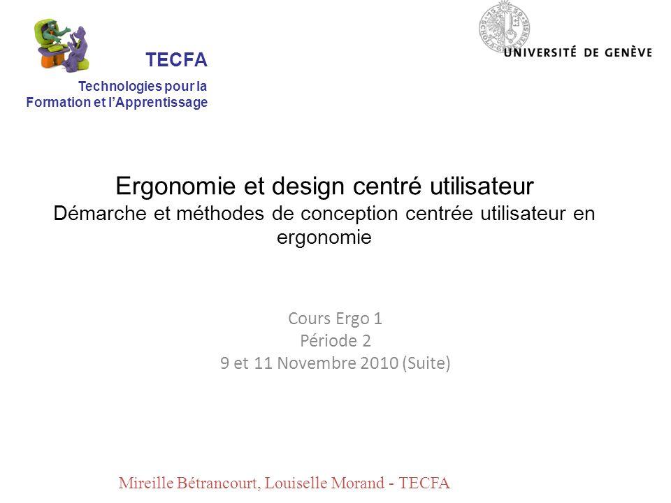 Cours Ergo 1 Période 2 9 et 11 Novembre 2010 (Suite)