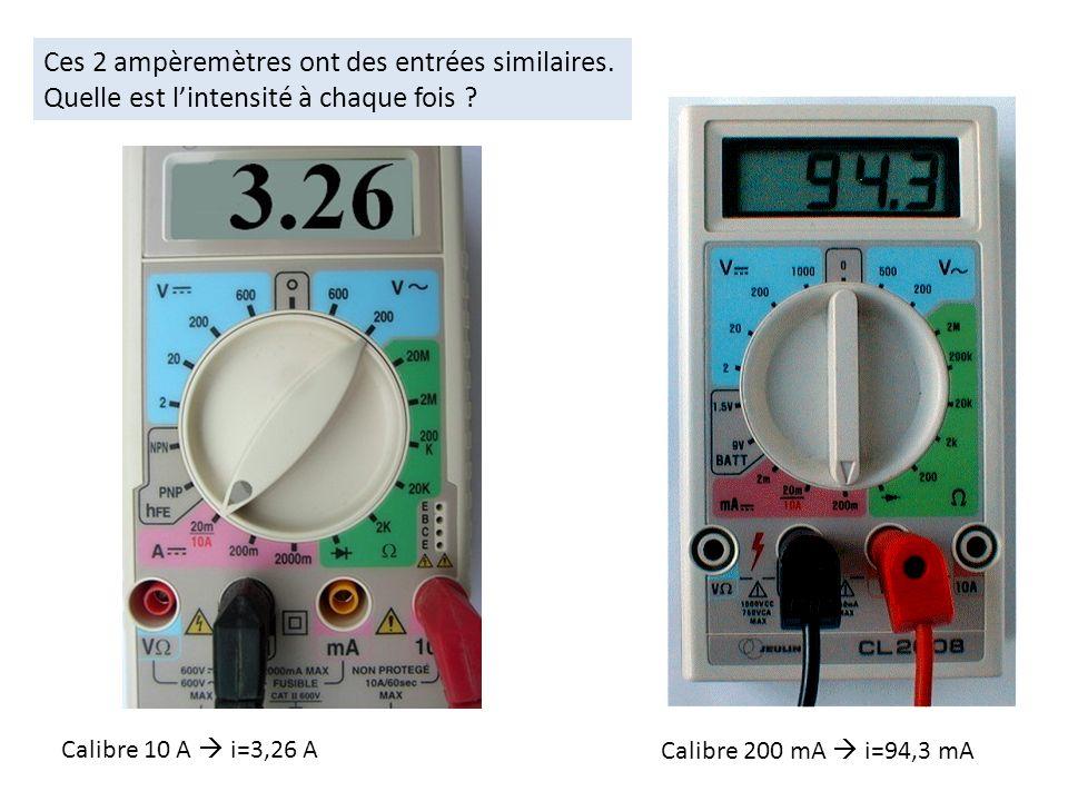Ces 2 ampèremètres ont des entrées similaires.