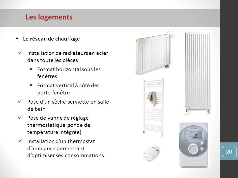 Les logements Le réseau de chauffage
