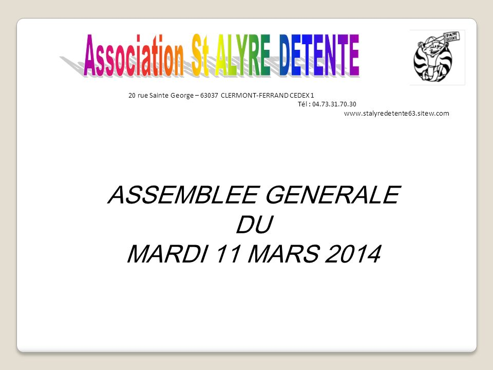 Association St ALYRE DETENTE