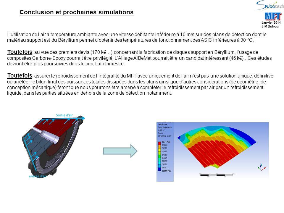 MFT Conclusion et prochaines simulations