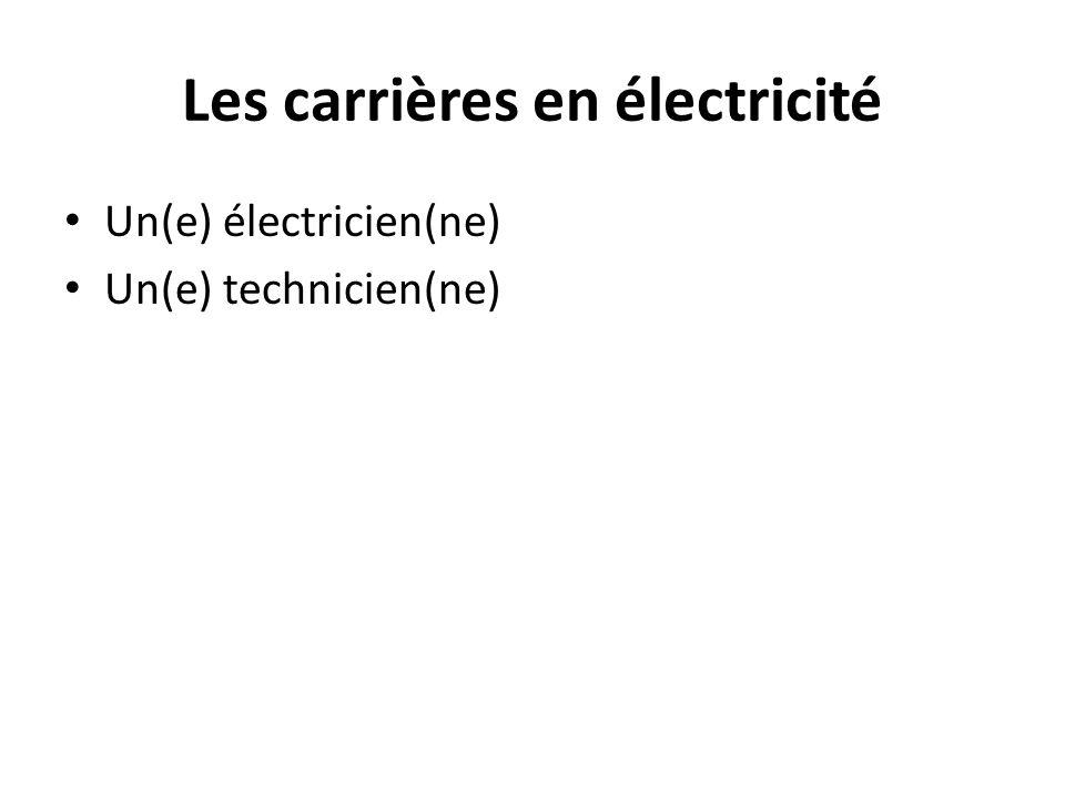 Les carrières en électricité
