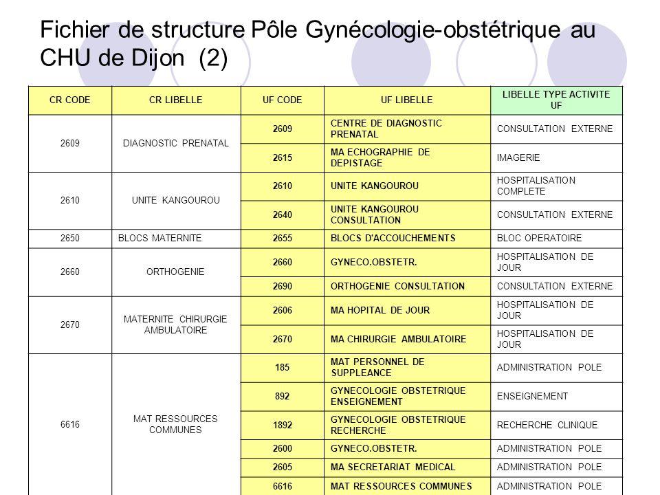 Fichier de structure Pôle Gynécologie-obstétrique au CHU de Dijon (2)