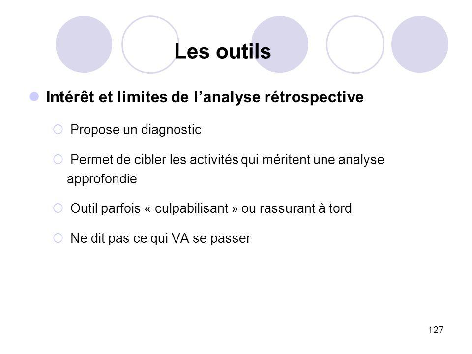 Les outils Intérêt et limites de l'analyse rétrospective