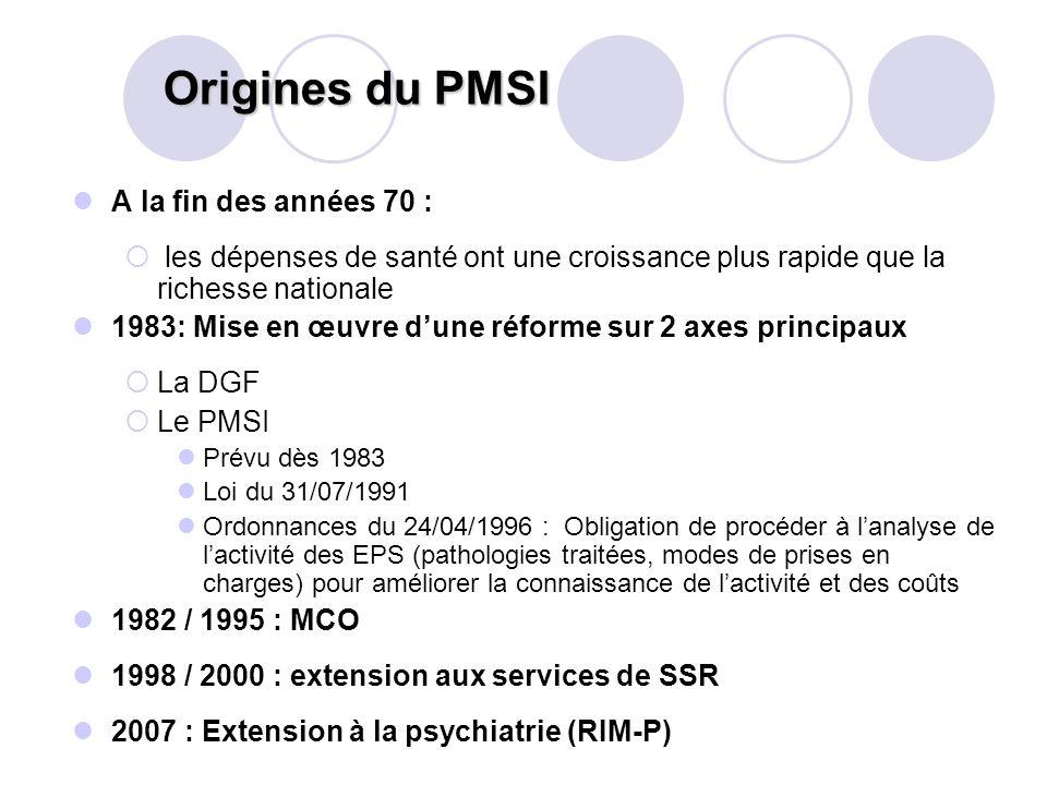 Origines du PMSI A la fin des années 70 :