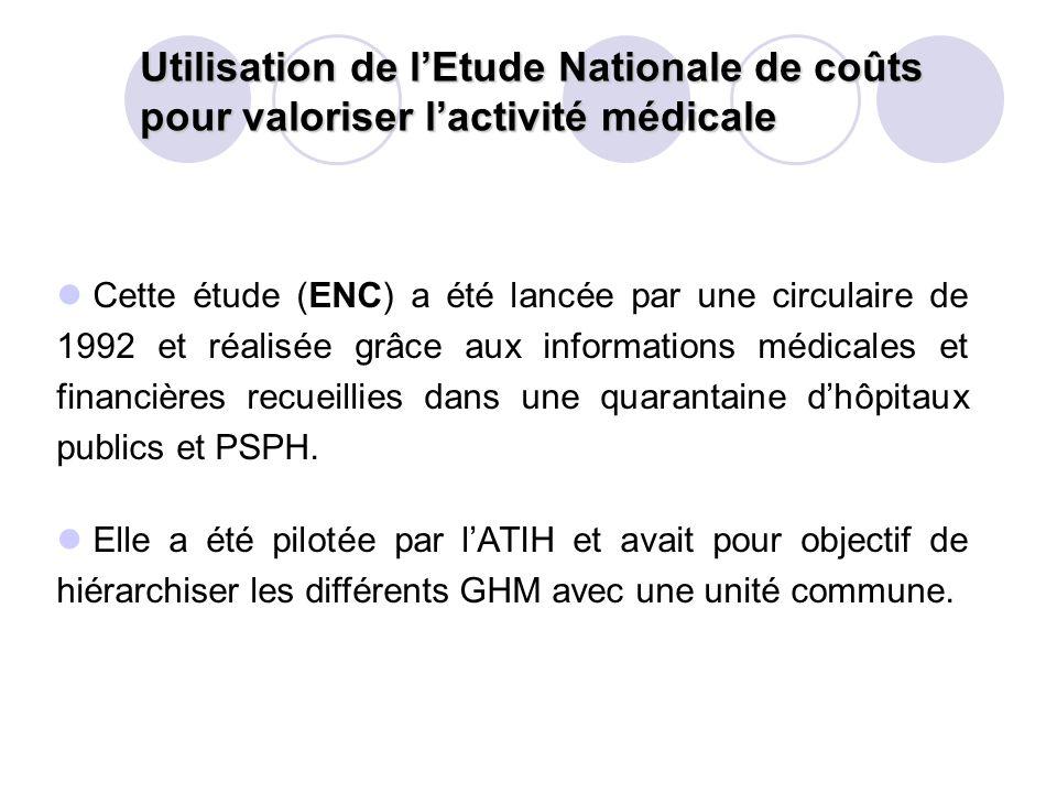 Utilisation de l'Etude Nationale de coûts pour valoriser l'activité médicale