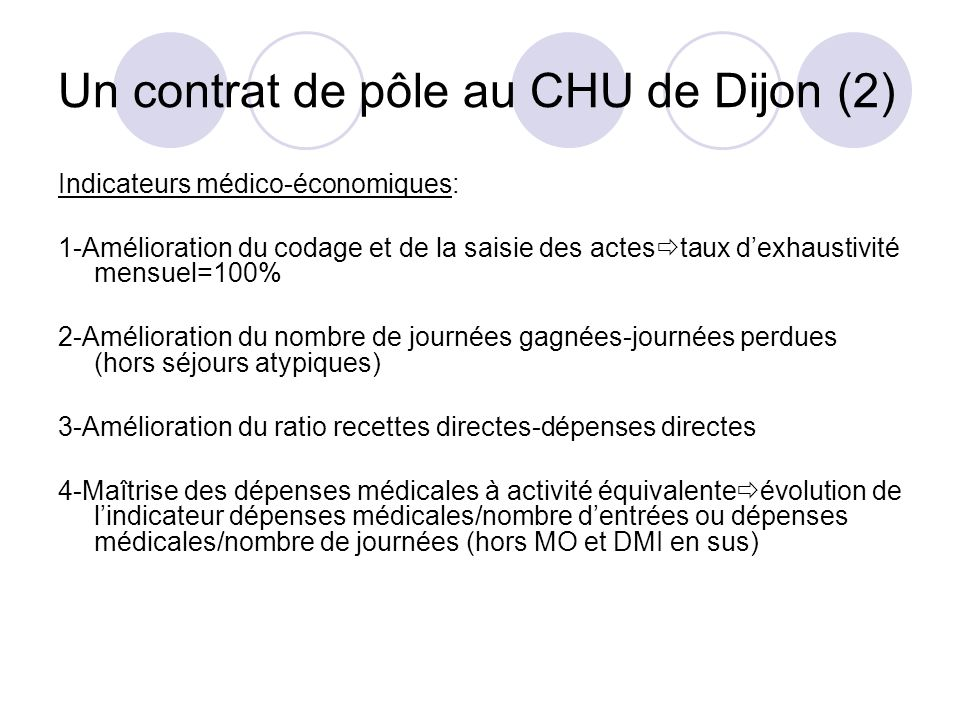 Un contrat de pôle au CHU de Dijon (2)