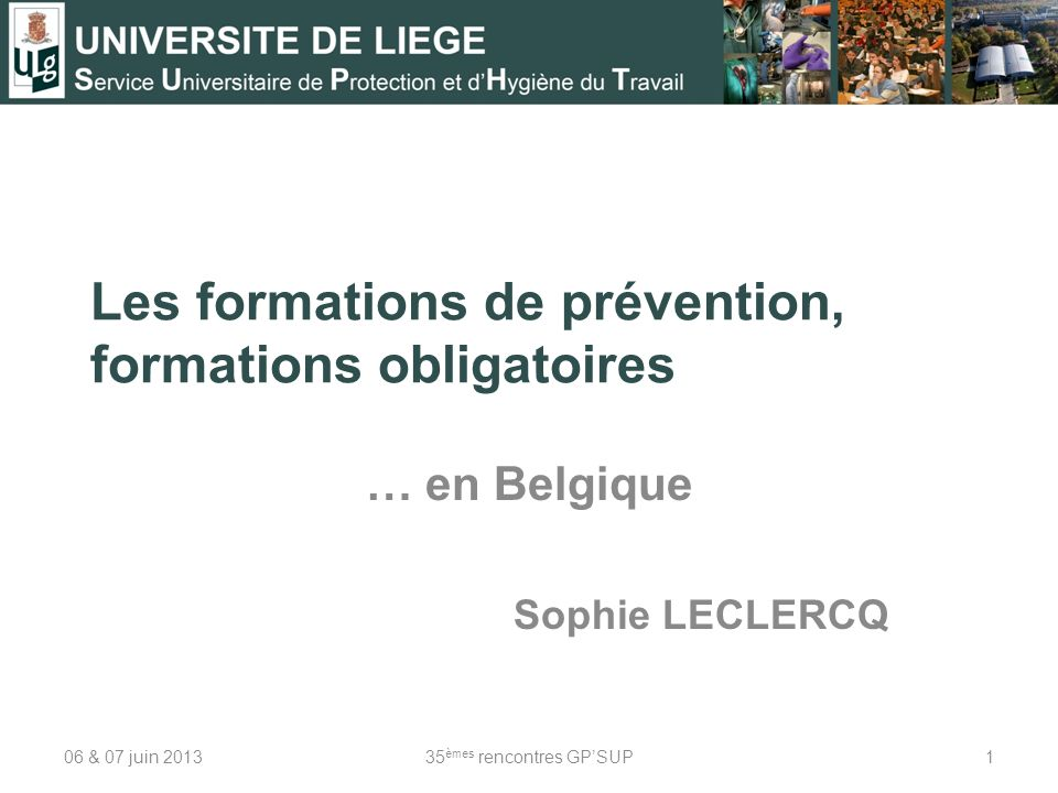Les formations de prévention, formations obligatoires