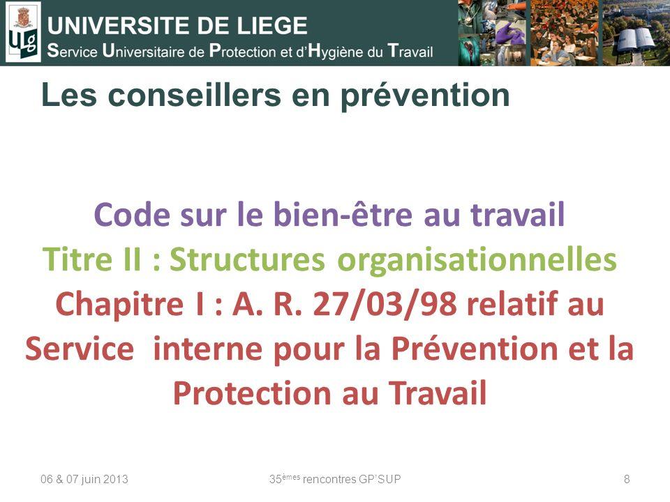 Les conseillers en prévention