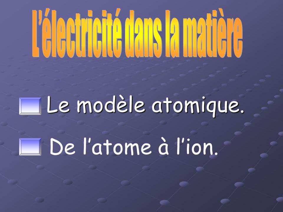 L'électricité dans la matière