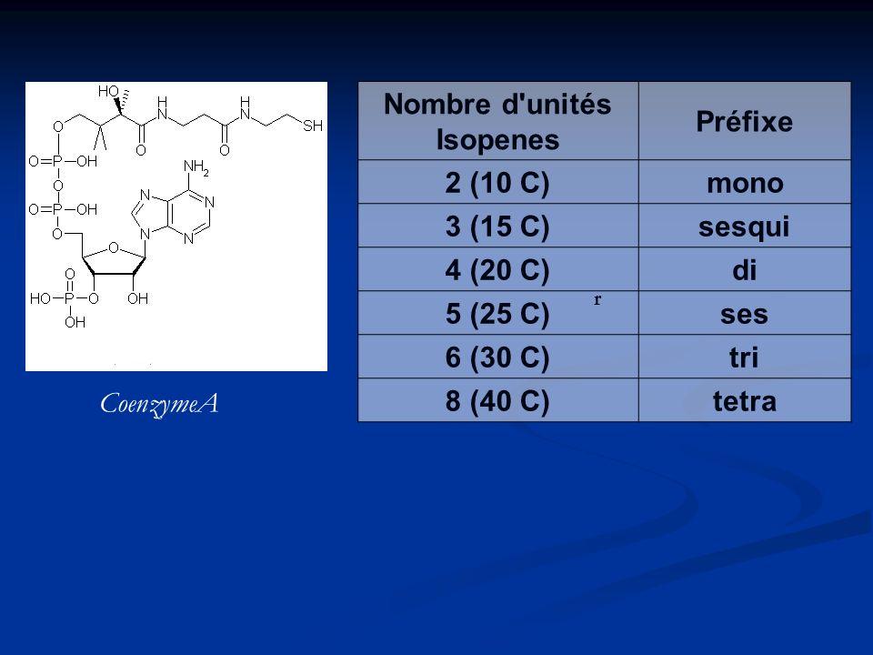 Nombre d unités Isopenes