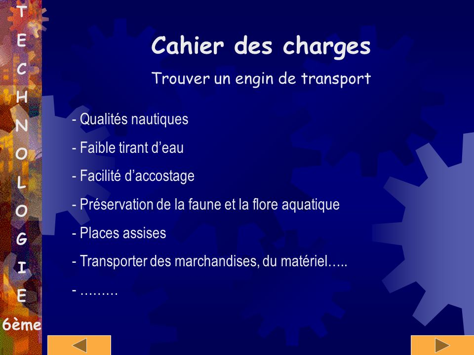 Trouver un engin de transport