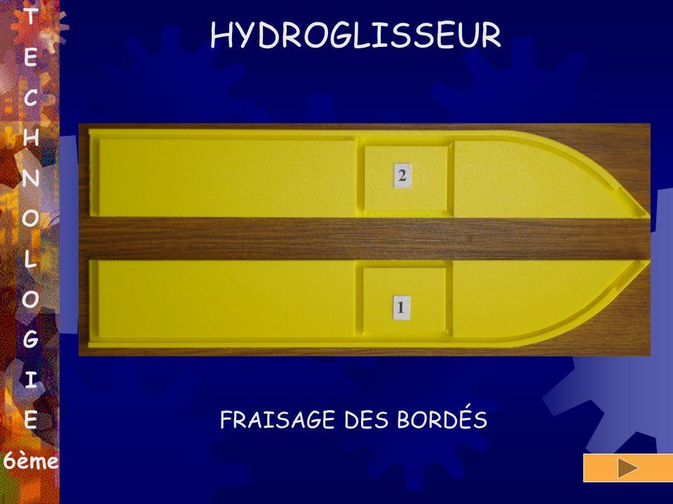 T E C H N O L G I 6ème HYDROGLISSEUR FRAISAGE DES BORDÉS