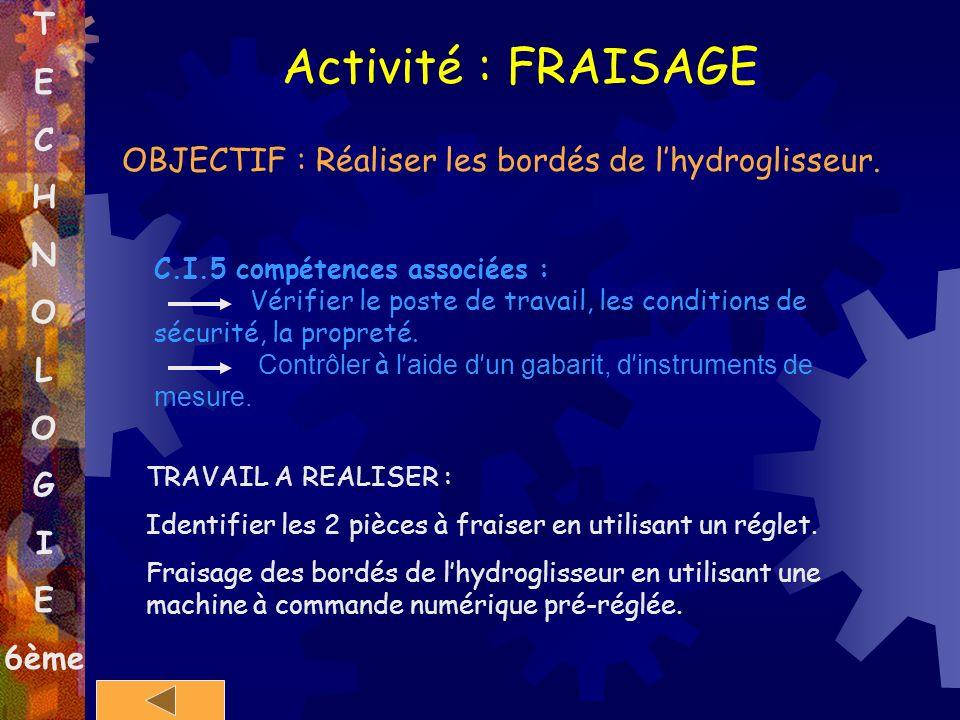 Activité : FRAISAGE T E C H N O