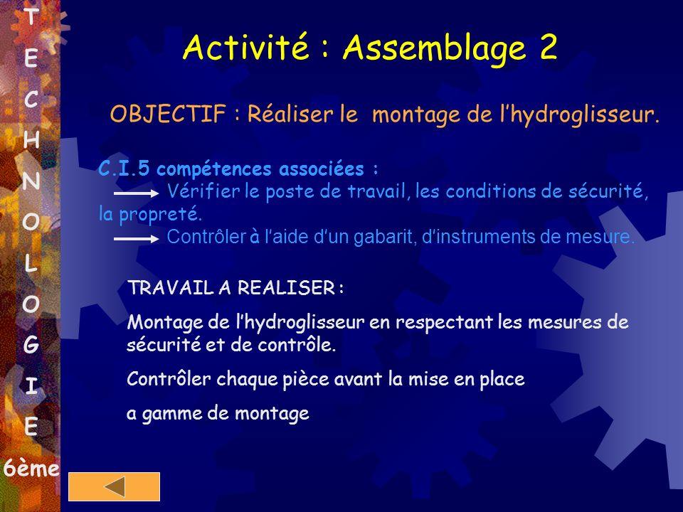 Activité : Assemblage 2 T E C H N O