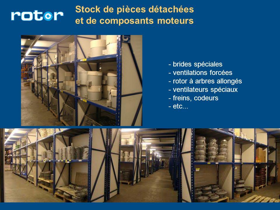Stock de pièces détachées et de composants moteurs