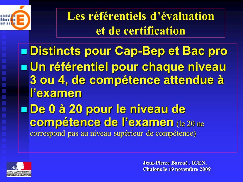 Les référentiels d'évaluation et de certification