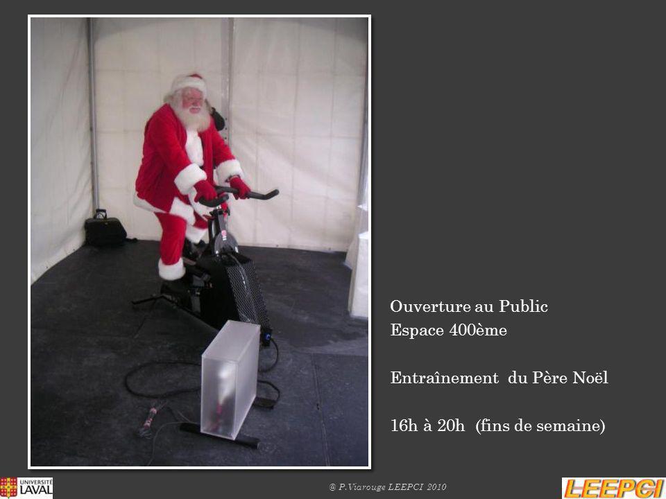 Entraînement du Père Noël 16h à 20h (fins de semaine)