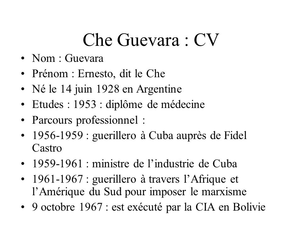 che guevara et la r u00e9volution cubaine