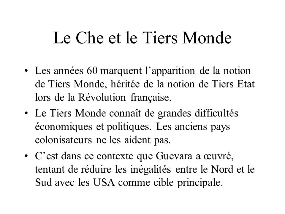 Le Che et le Tiers Monde