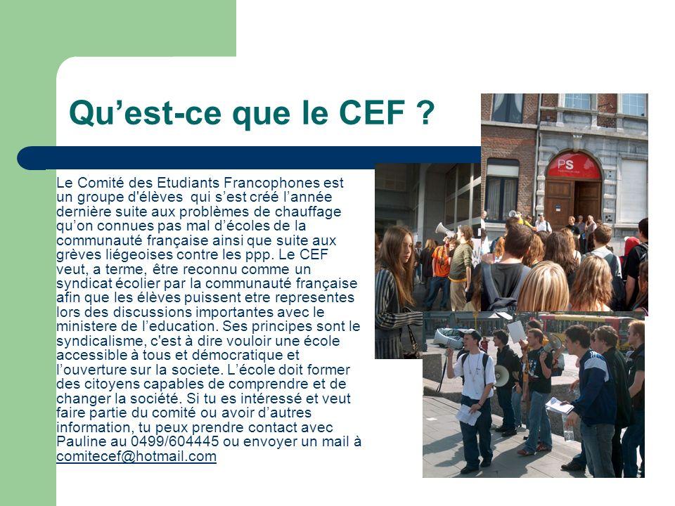 Qu'est-ce que le CEF