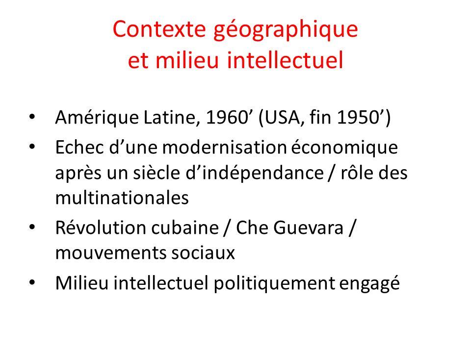 Contexte géographique et milieu intellectuel
