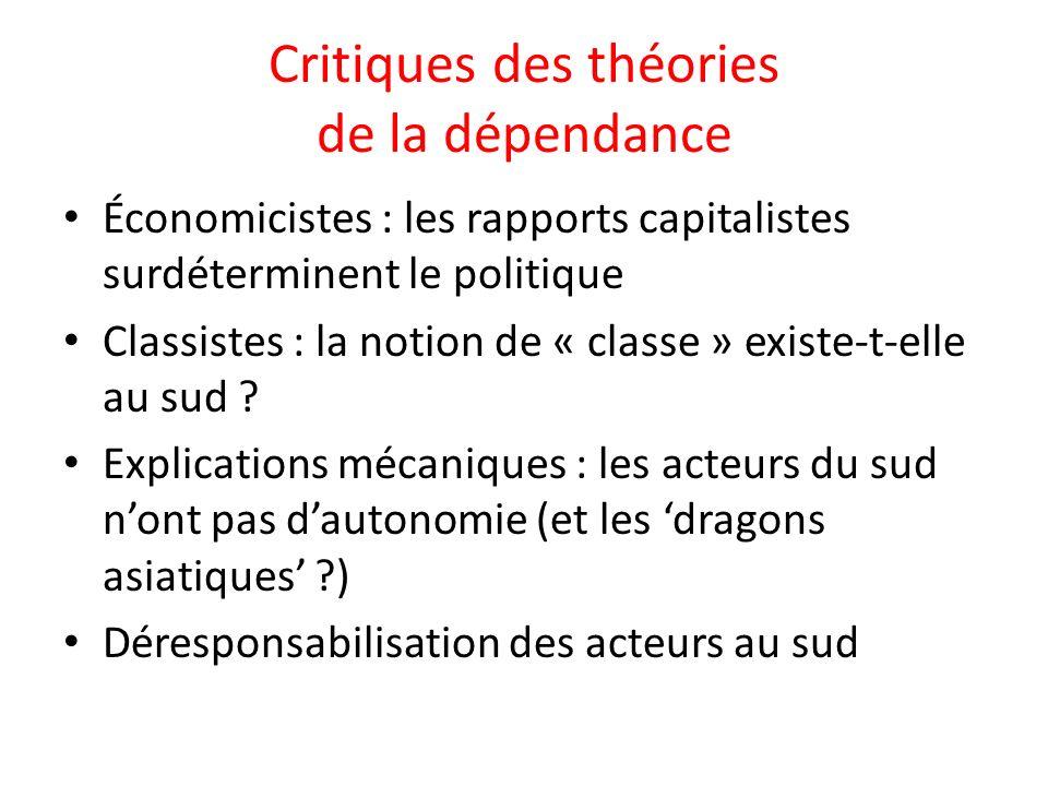 Critiques des théories de la dépendance