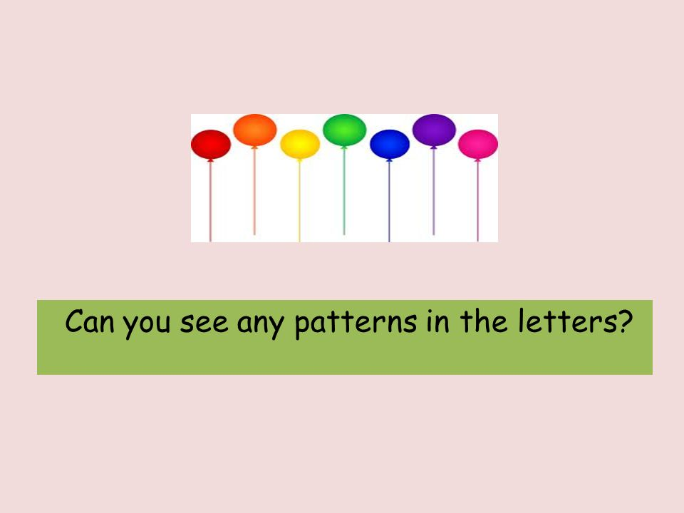 Can you see any patterns in the letters