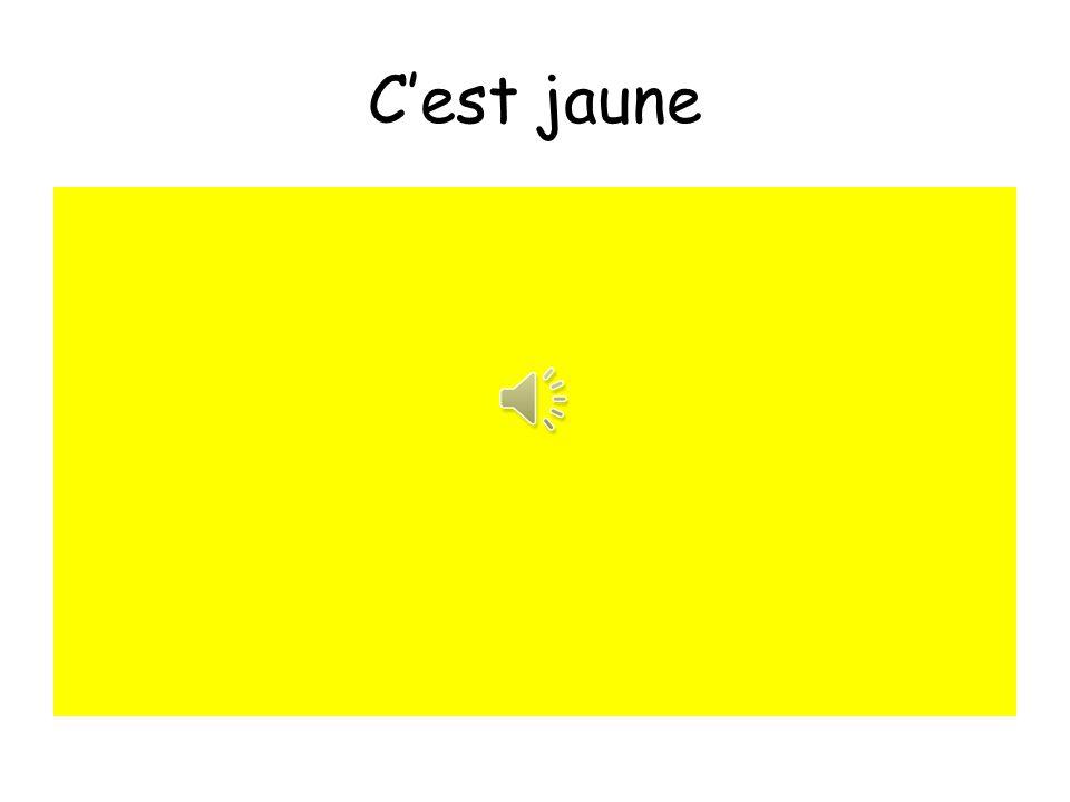 C'est jaune