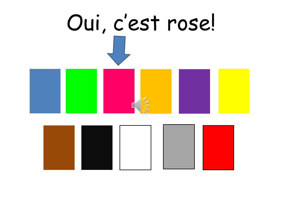 Oui, c'est rose! Choississez means choose
