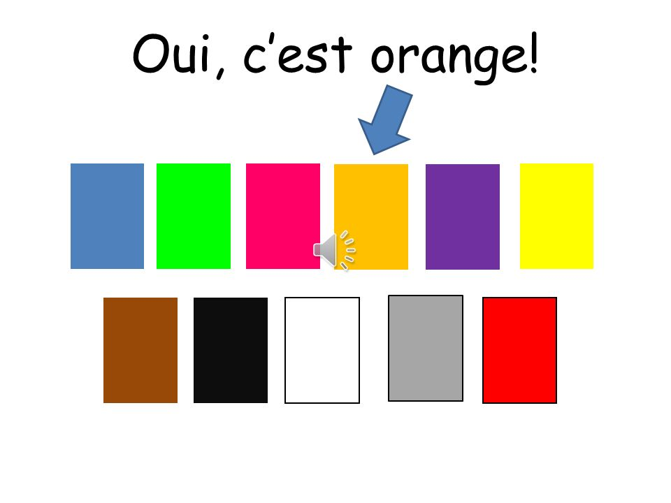 Oui, c'est orange! Choississez means choose