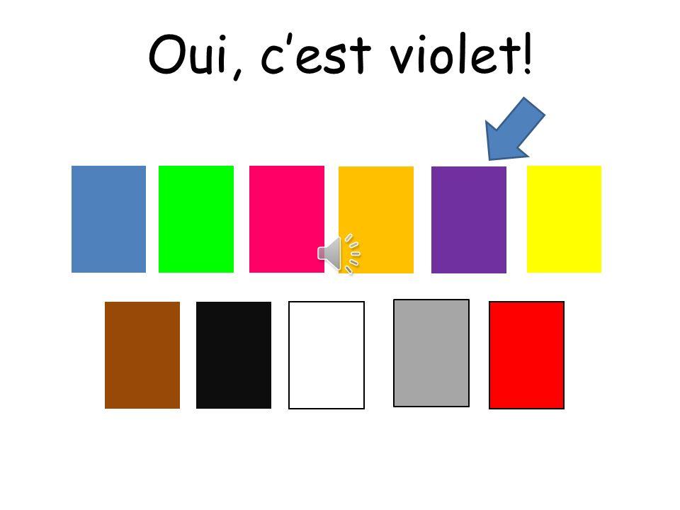 Oui, c'est violet! Choississez means choose