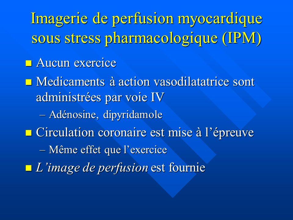 Imagerie de perfusion myocardique sous stress pharmacologique (IPM)