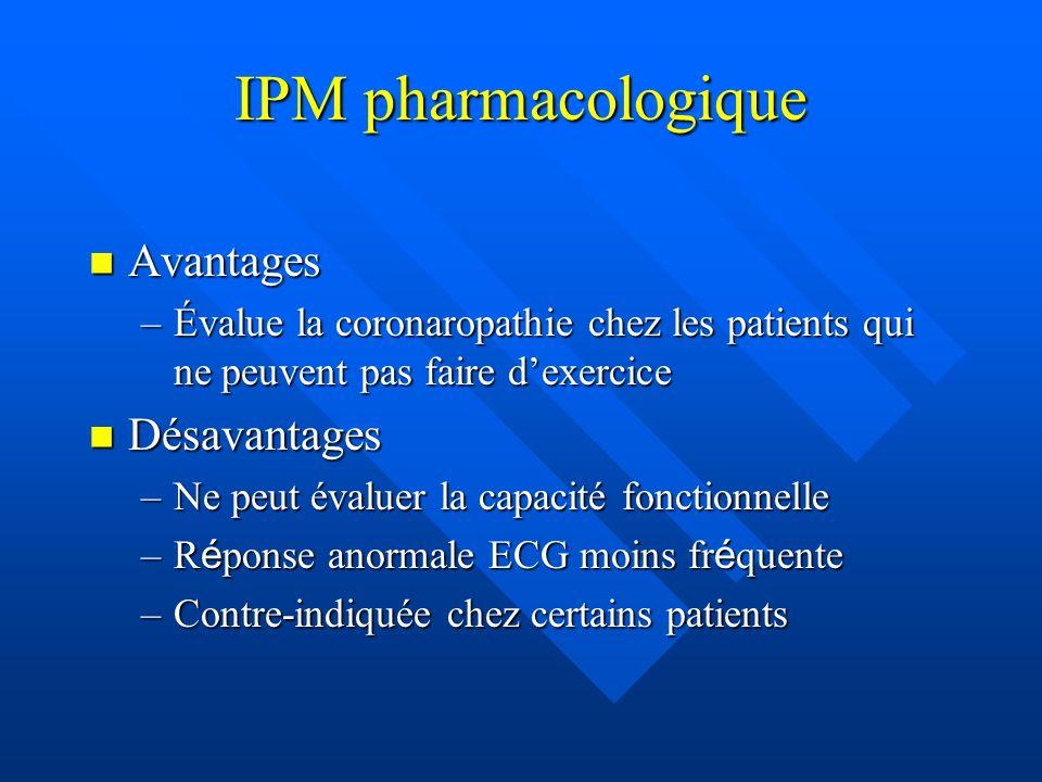 IPM pharmacologique Avantages Désavantages