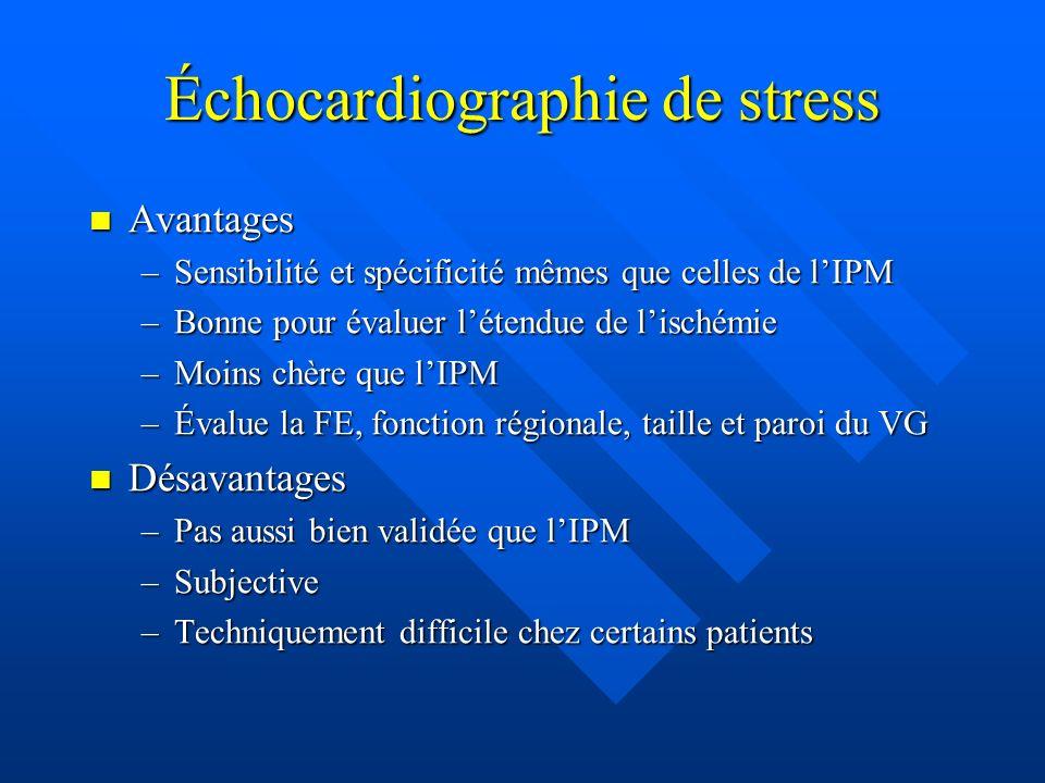 Échocardiographie de stress