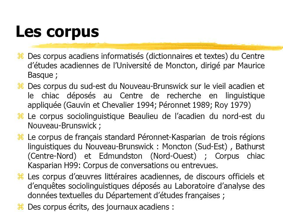 Les corpus
