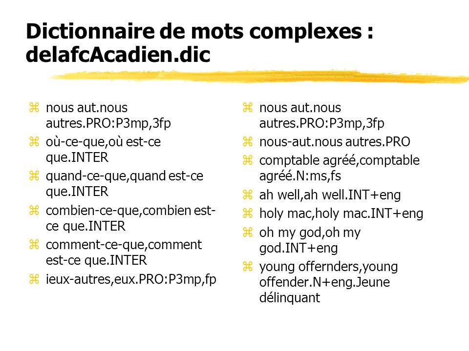 Dictionnaire de mots complexes : delafcAcadien.dic